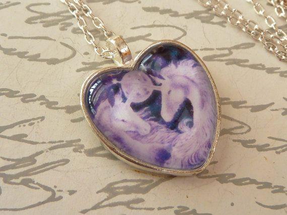Elegante Herz Halskette in silber mit zwei von Schmucktruhe auf Etsy, €24.00