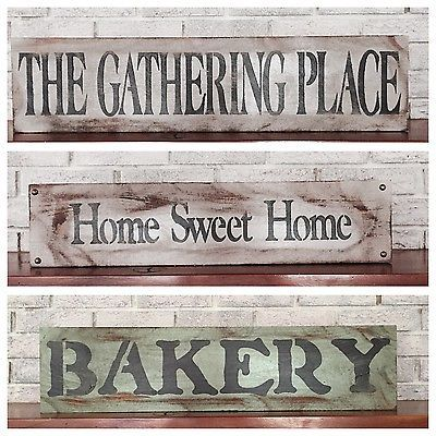 BAKERY Farmhouse style Sign fixer upper ANTIQUE Wood SIGN for bakery kitchen