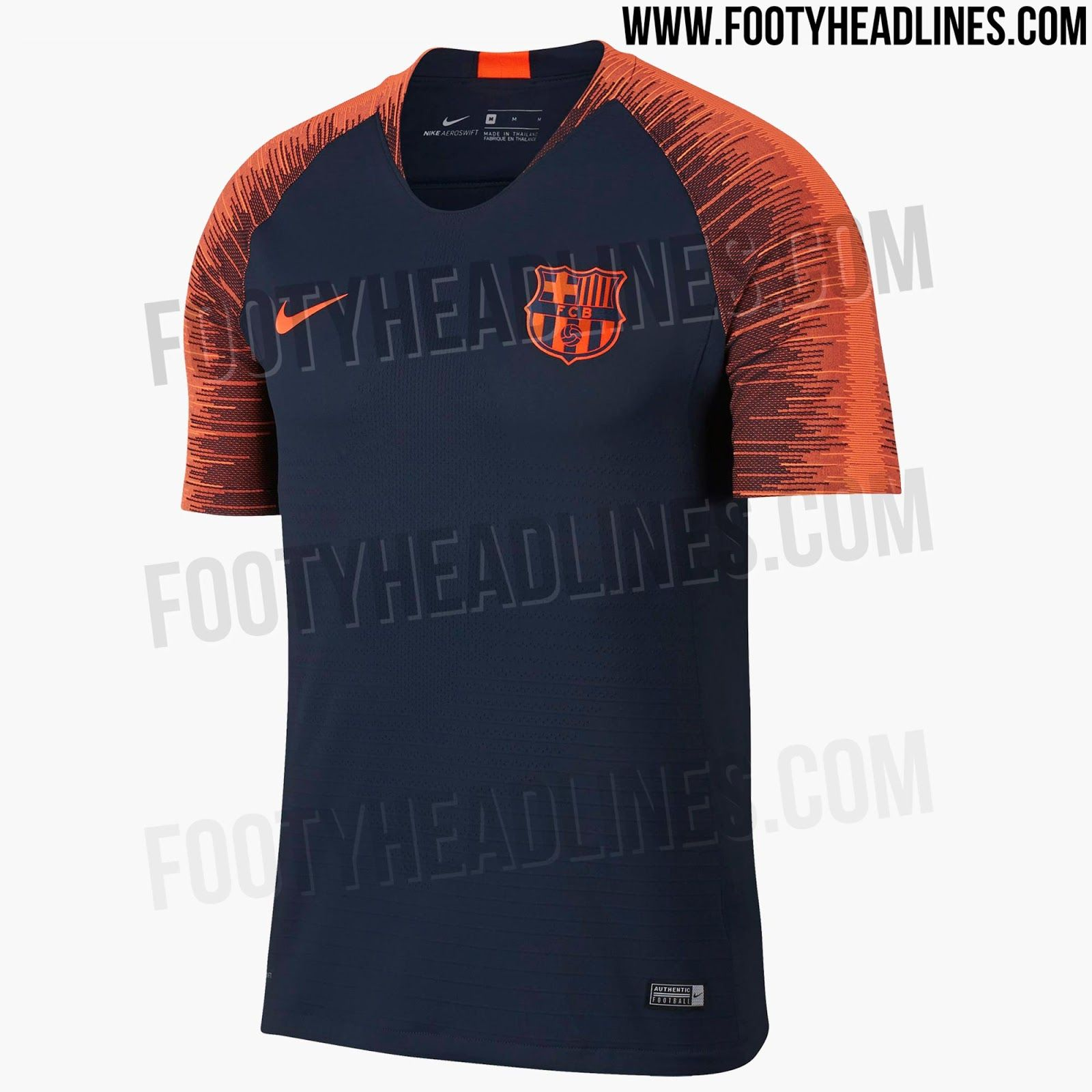 d857cb42963 The Nike Barcelona 2018 training jersey allows a first look at one of Nike's  2018 World Cup templates.