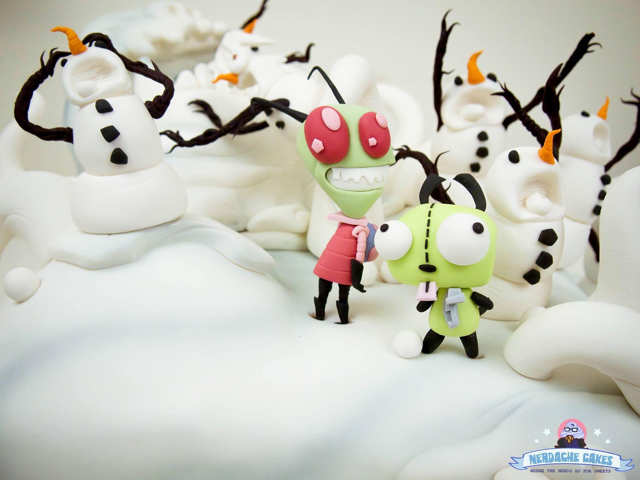 Invader Zim cake in Calvin and Hobbes scene | Pinterest | Invader ...