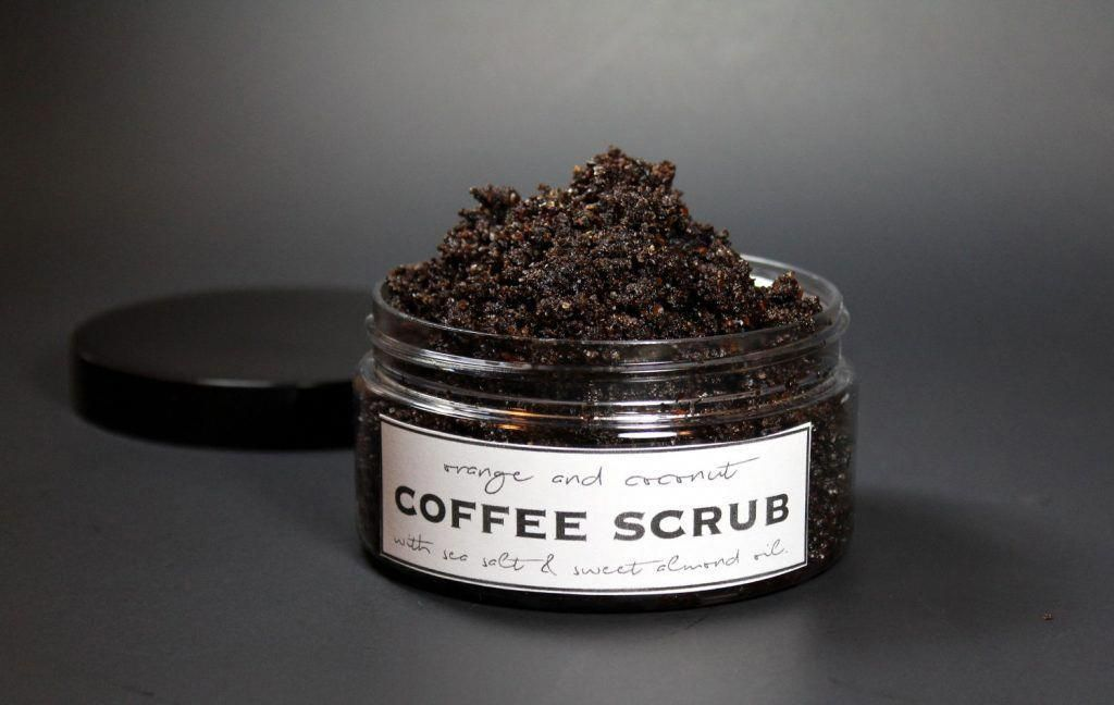 This homemade coffee scrub recipe without coconut oil is