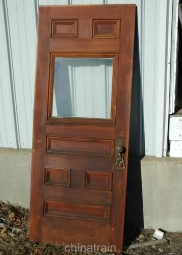 Antique Vintage Solid Wood 6 Panel Amp Window House Entry