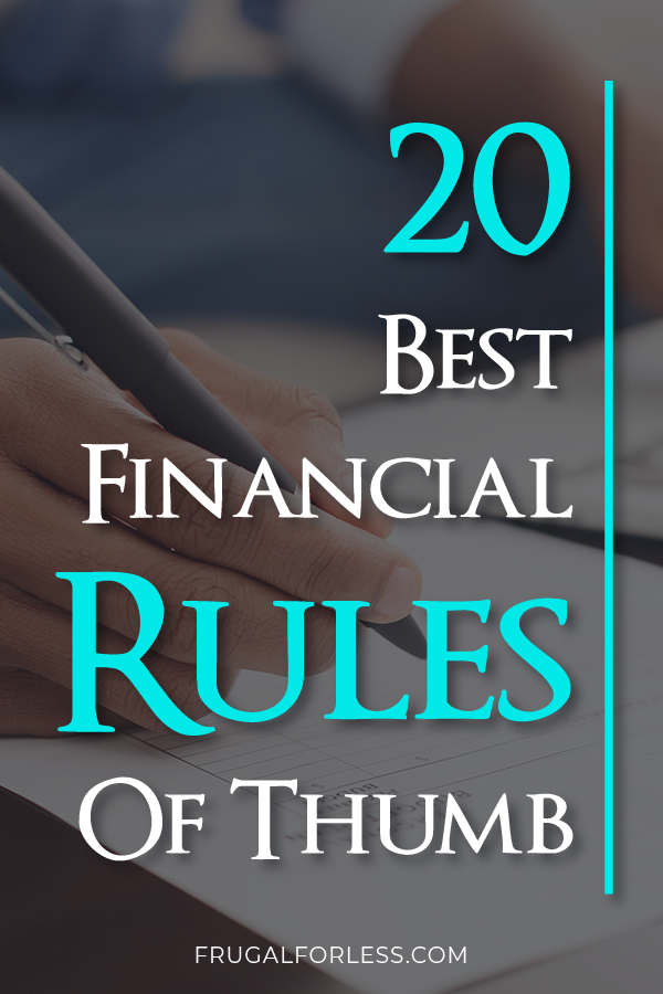20 Best Financial Rules Of Thumb Budget help, Rule of