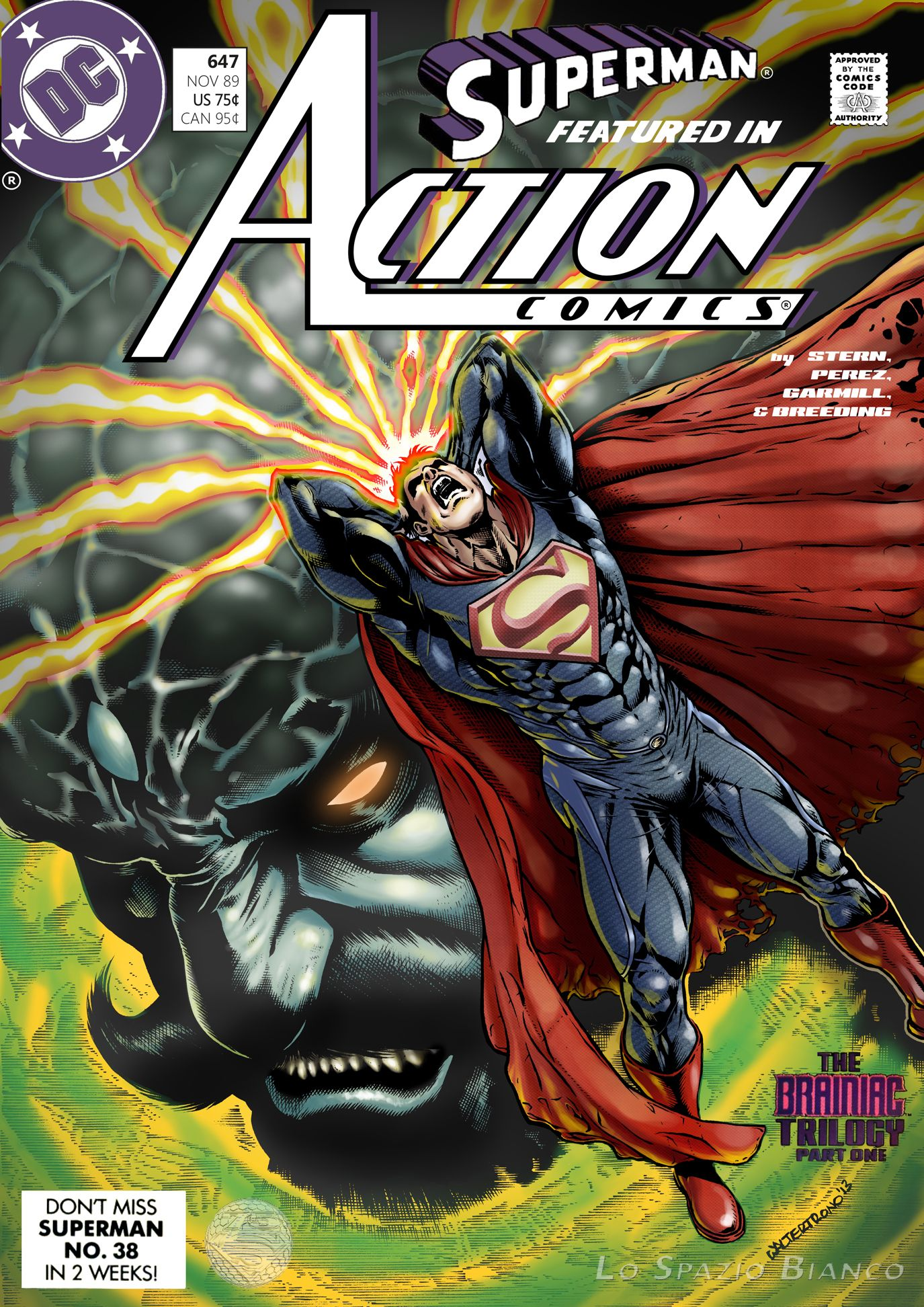 Action Comics 647 Pencils Inks Walter Trono Colors Carlo