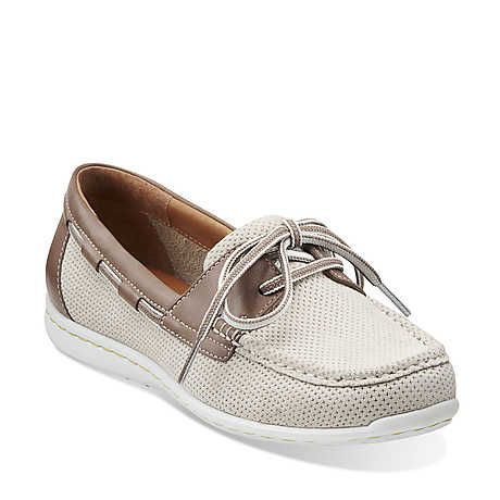 Cliffrose Sail in Off White Nubuck - Womens Shoes from Clarks http://www
