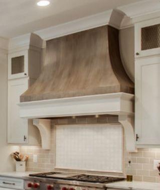 14 Forrest Hills Ranch Kitchen Custom Curved Drywall Range Hood Kitchen Range Hood Kitchen Fireplace Range Hood