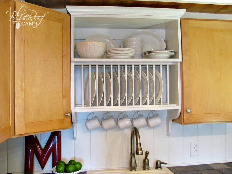 Diy Plate Rack The Best Way To Stack Your Plates Plate Shelves Home Decor Kitchen Builder Grade Kitchen