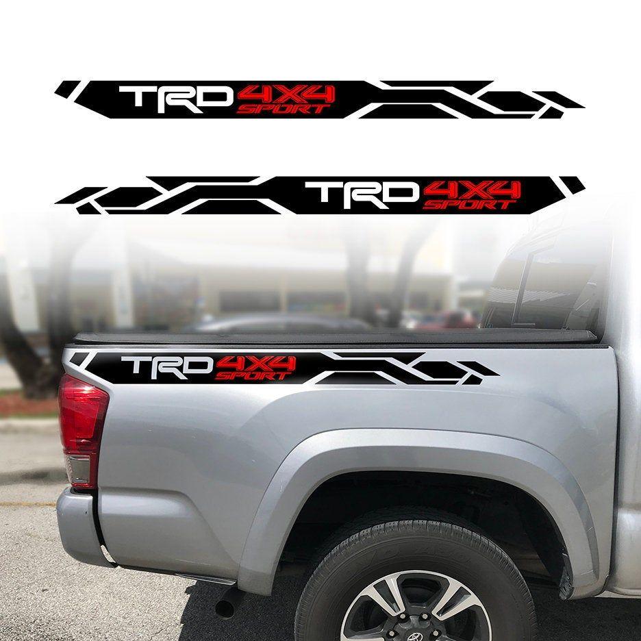 2 Trd 4x4 Sport Decals Trd Sports Decals Tacoma Truck [ 936 x 936 Pixel ]