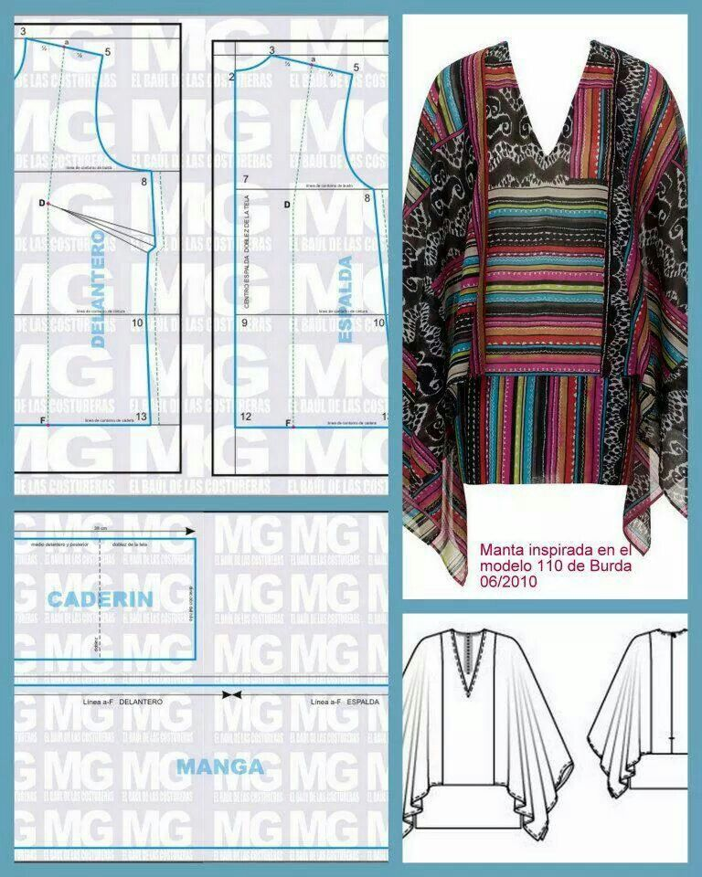 Pin de Mariana Maldonado en patrones, molderia   Pinterest   Manta ...