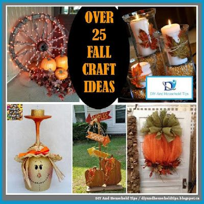 DIY And Household Tips Over 25 Fall Craft Ideas Halloween - fall halloween decorating ideas