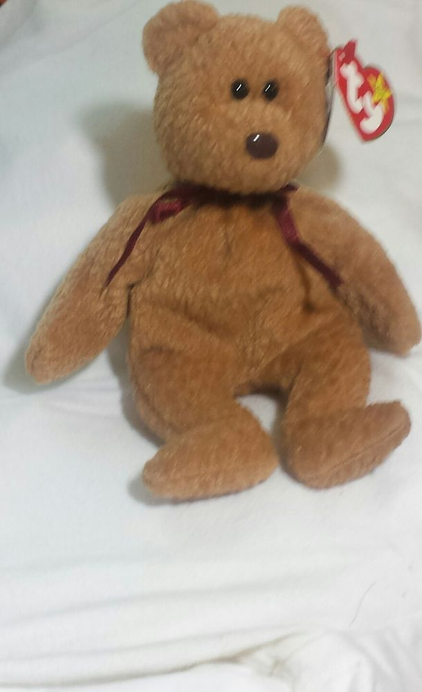 ef678408d5a Rare-Retired-Ty-Beanie-Baby-034-Curly-034-The-Bear-with-Many-Tag-Errors  Rare-Re  Ty