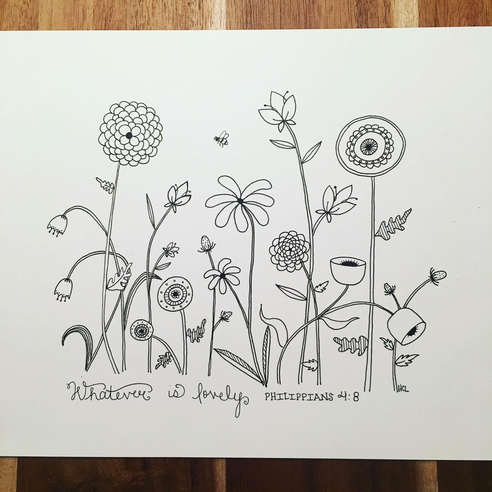 Znalezione obrazy dla zapytania flower pattern drawing | kwiaty ...
