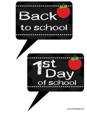 Back To School Free Printable Photo Booth Props At Wwwamandakeyt