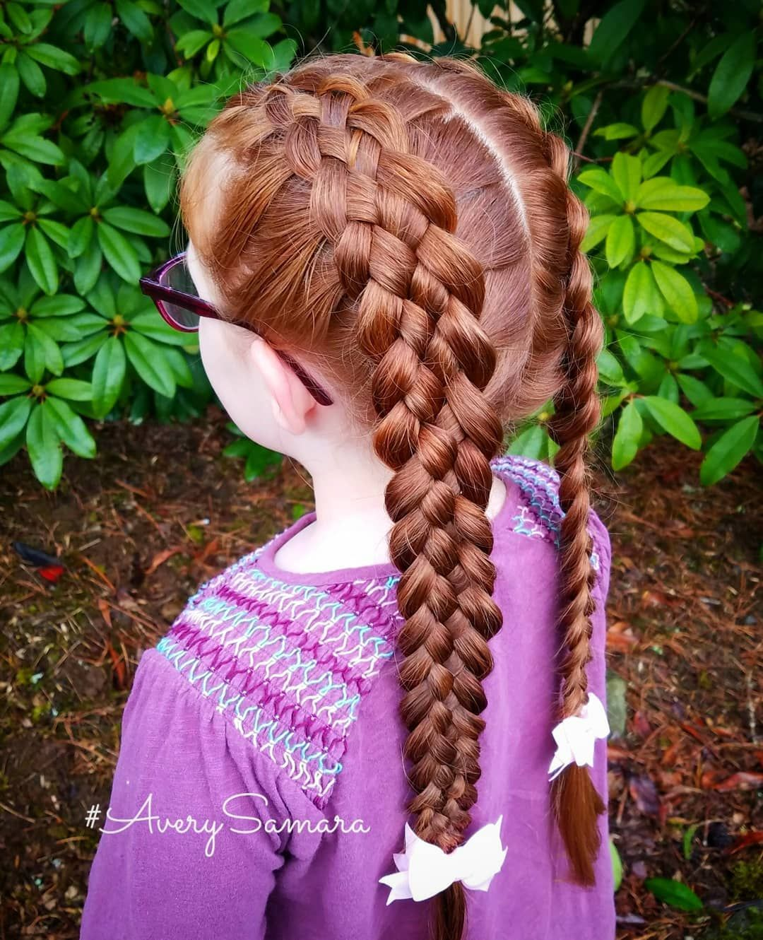 Double Dutch Five Strand Braids. Easy Hairstyles. Five