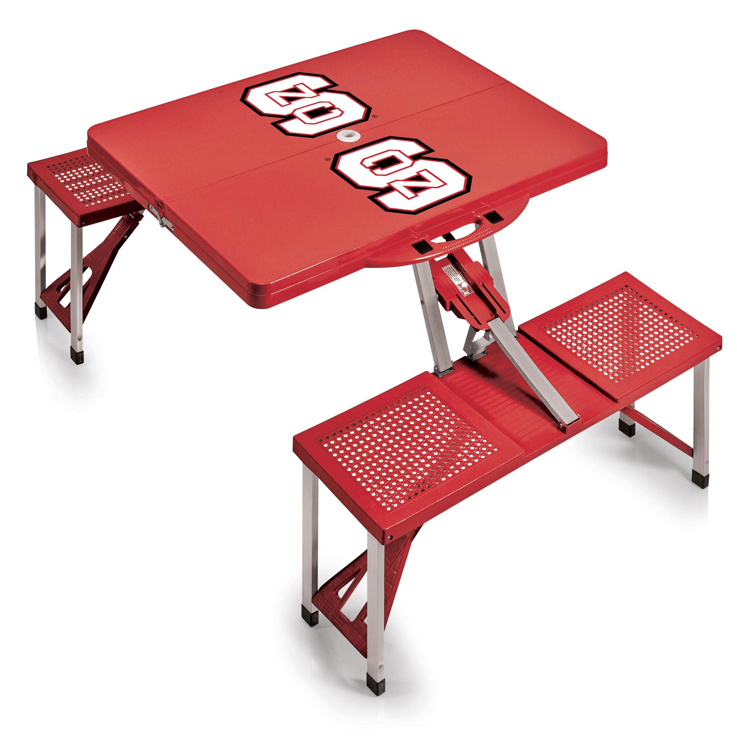 Nc State Wolfpack Picnic Table Red Digital Print