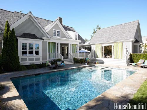 40 Swimming Pools You Ll Want To Lounge In Asap Pool Houses Swimming Pool House Pool House