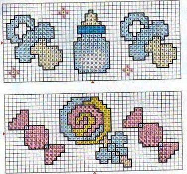 Graficos Motivos Infantis Croche Trico Ponto Cruz Itens