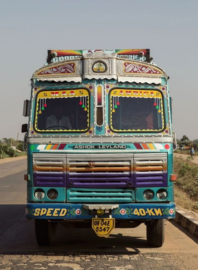 Indian Technicolor Trucks Photography Truck Art Photography Trucks