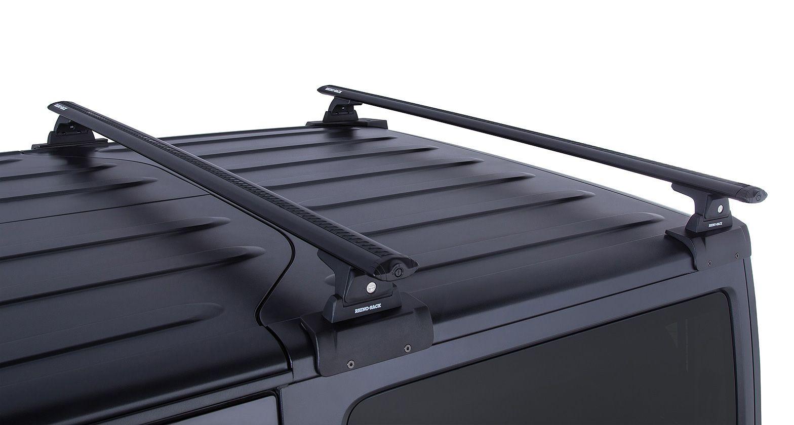 Rhino Rack Vortex Rlt600 Black 2 Bar Backbone Roof Rack For 2 Door Wrangler Jk Ja6382 Patio Roof Corrugated Plastic Roofing Plastic Roofing