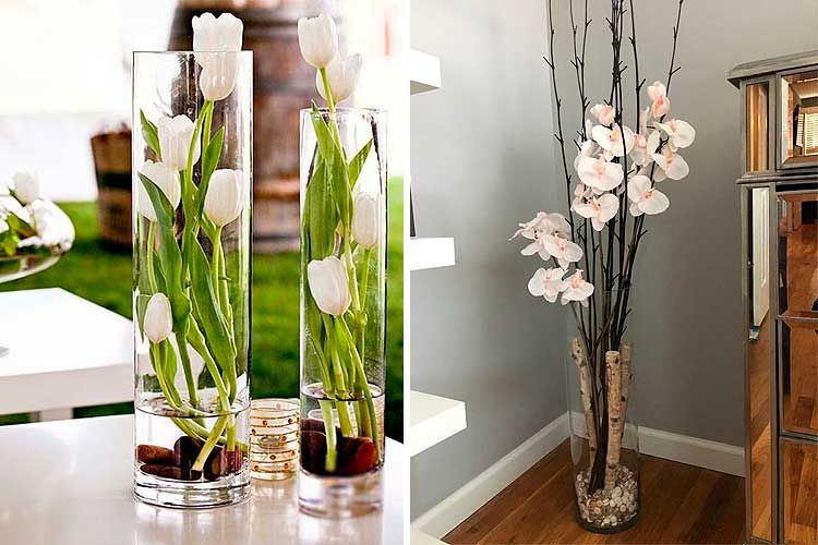 Cómo decorar con flores artificiales Centros de mesa Pinterest
