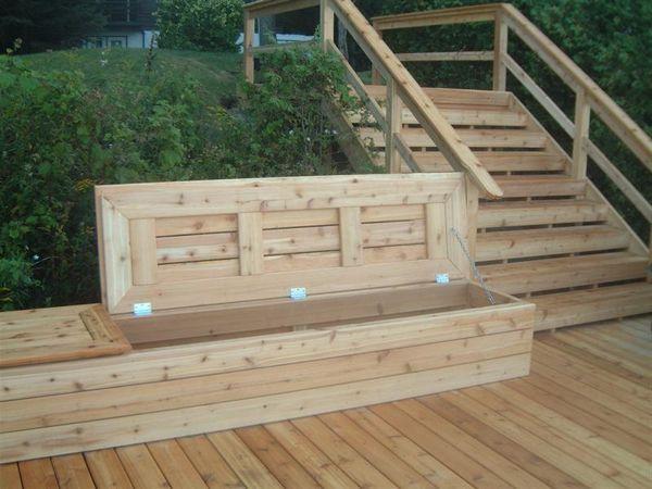 Charmant Deck Benches | Diy Deck Storage Bench