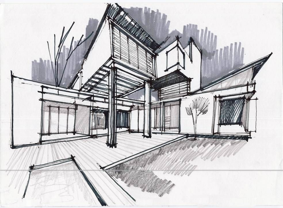 Delighful Architectural Drawings Of Buildings Models In Decorating Ideas