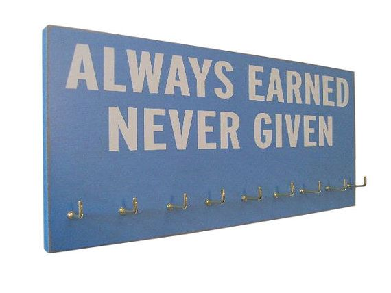 Running Medal Holder Inspirational Sport Quotes Gifts For