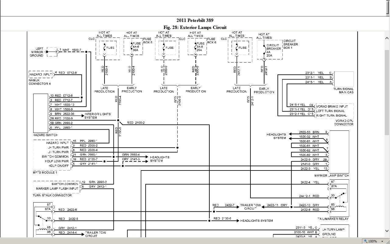 Awesome Peterbilt 379 Headlight Wiring Diagram In 2020