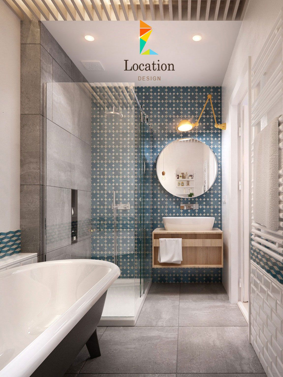 أحدث ديكورات حمامات مودرن 2018 2019 لوكشين ديزين نت Bathroom Interior Bathroom Inspiration Bathroom Design