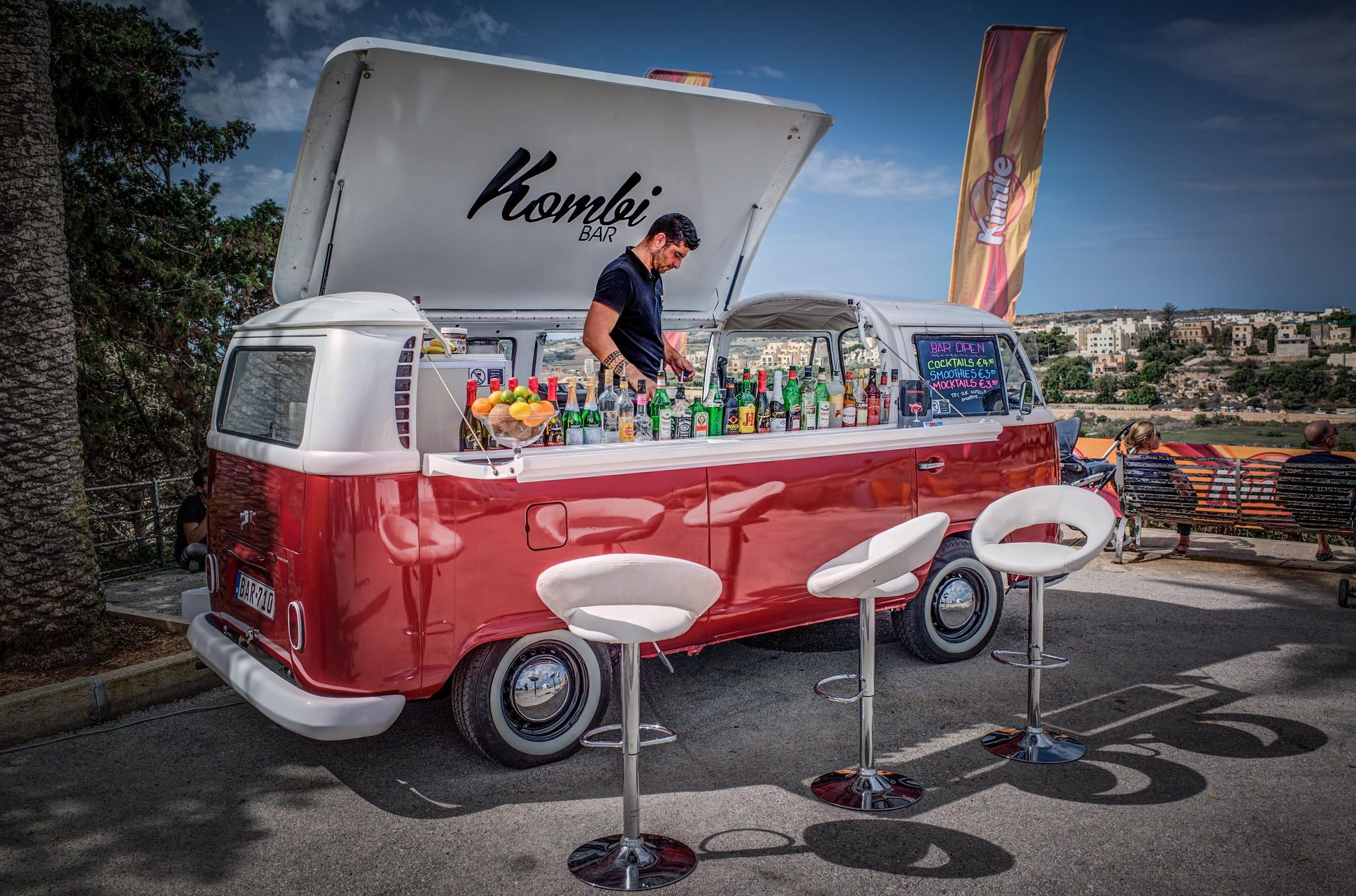Vw Bulli As Kombi Bar Mobile Food Cart Food Vans Food Truck