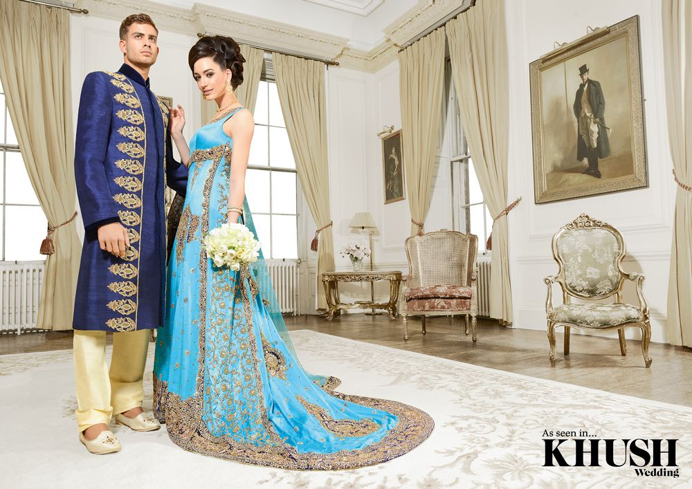 Matching #outfits for the #bride and #groom by #Traditions #Perfect for the #summer #wedding.  36 The Broadway Southall UB1 1PT +44(0)208 606 9377  158 Green Street London E7 8JT +44(0)208 821 0079  sales@traditionsonline.co.uk www.traditionsonline.co.uk  #Makeup: Summaya #Hair: Saira Rahman Hairstylist #Jewellery: Traditions  #Bouquet: flowerescent #Location: Addington Palace