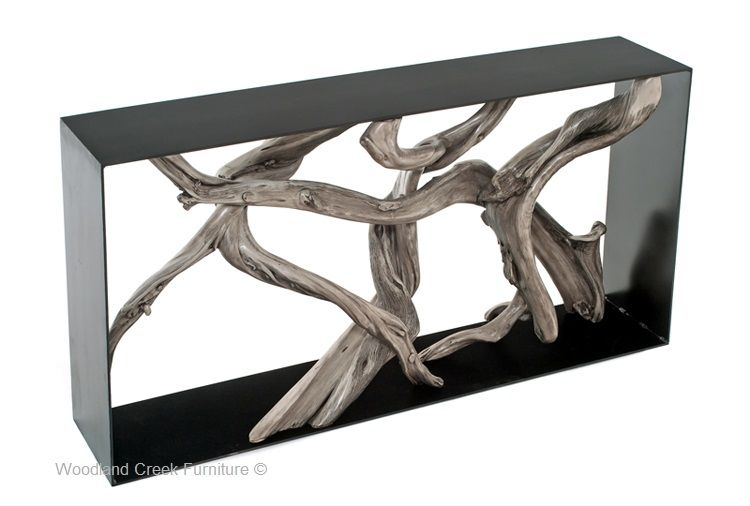 Modern Driftwood Console Table
