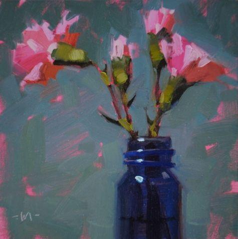 Reaching Pink, painting by artist Carol Marine