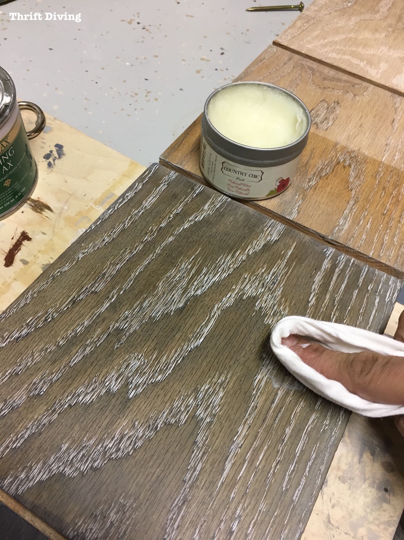 Dye Wood And Use Lime Wax To Finish Oak
