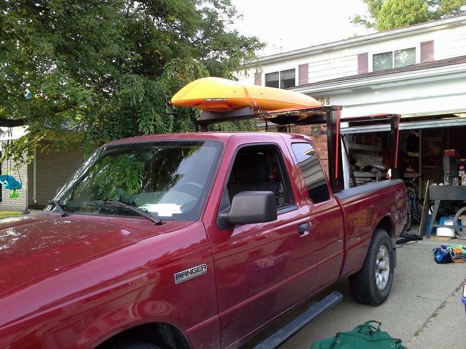 my new diy kayak rack on my ranger