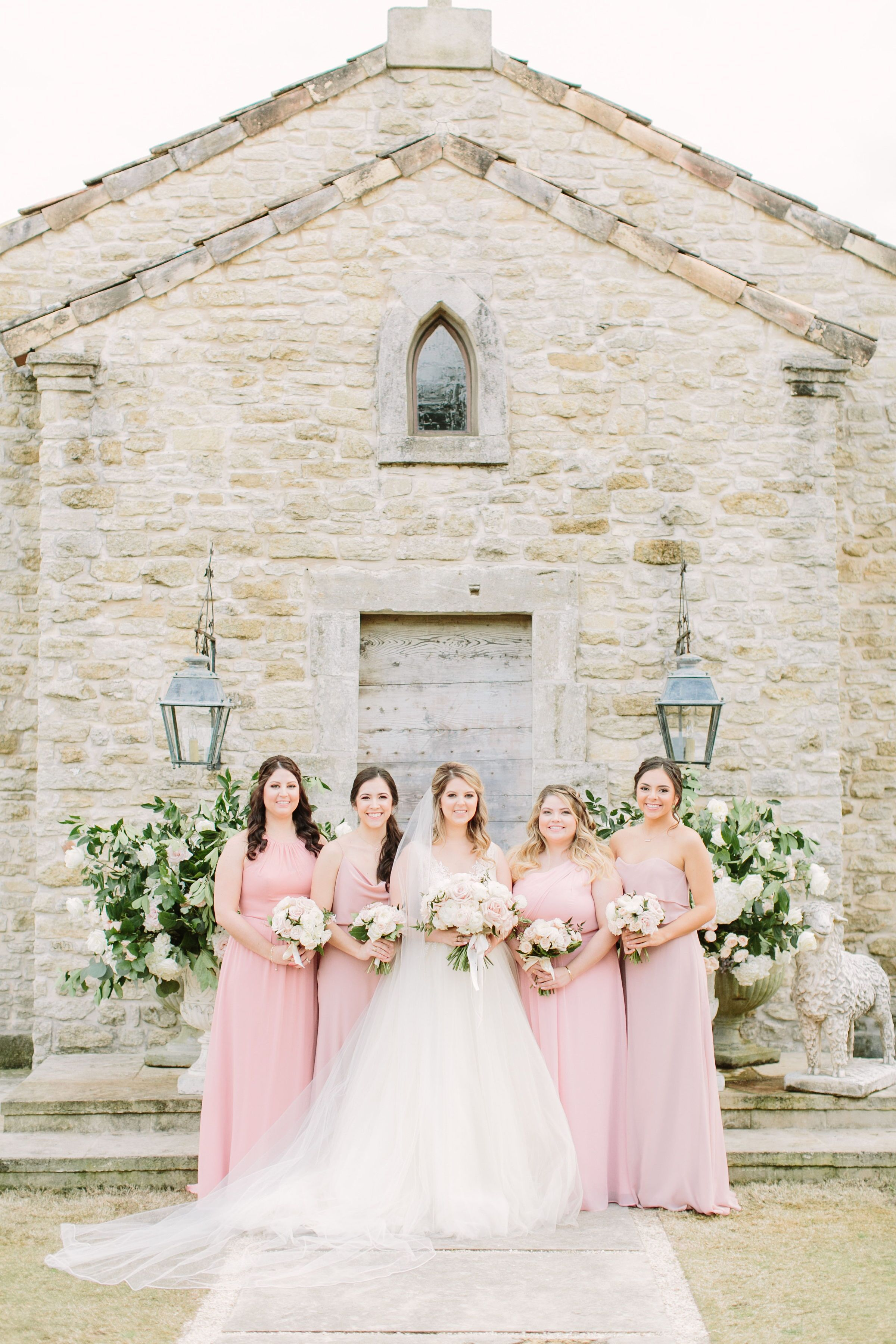 Dusty Pink Bridesmaid Dresses For Southern Garden Party Wedding At Houston Oaks Country Club In Tex Texas Wedding Planner Dusty Pink Bridesmaid Dresses Wedding