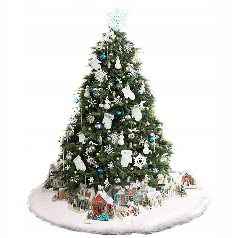 Dywanik Pod Choinke Biale Futro Snieg Srednica 90 Christmas Tree Holiday Decor Holiday