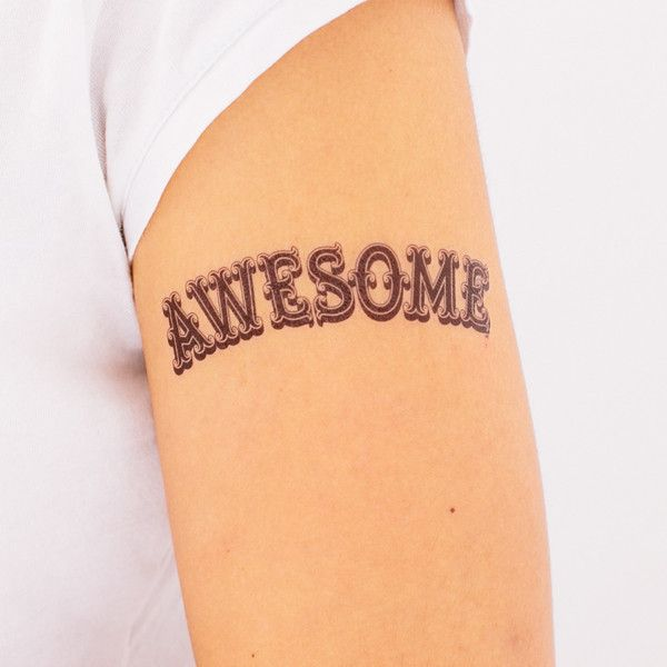 Awesome temporary tattoo by Tattly