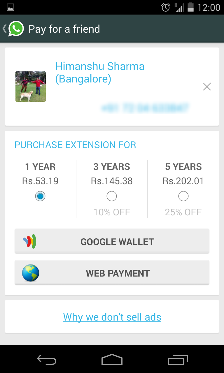 Hide Last Seen And Pay For A Friend With The New Whatsapp Google Wallet Paying News