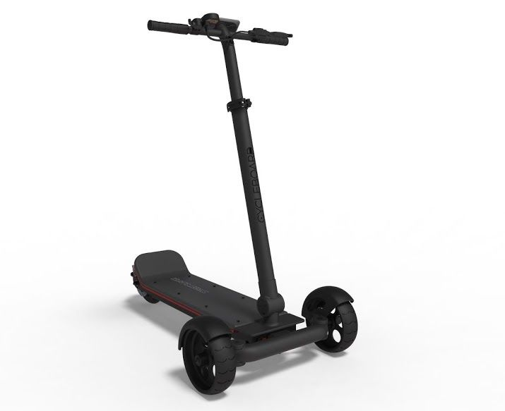 Stand Up Electric Scooter >> The Incredibly Intuitive Lean To Steer Stand Up Electric Scooter