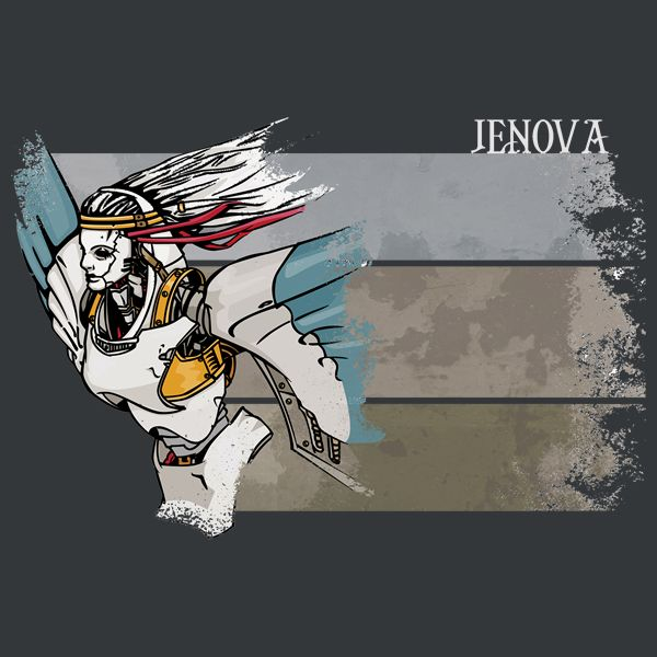 Jenova by Beanzomatic - Get Free Worldwide Shipping! This neat design is available on comfy T-shirt (including oversized shirts up to 6XL ladies fit and kids shirts), sweatshirts, hoodies, phone cases, and more. Free worldwide shipping available.