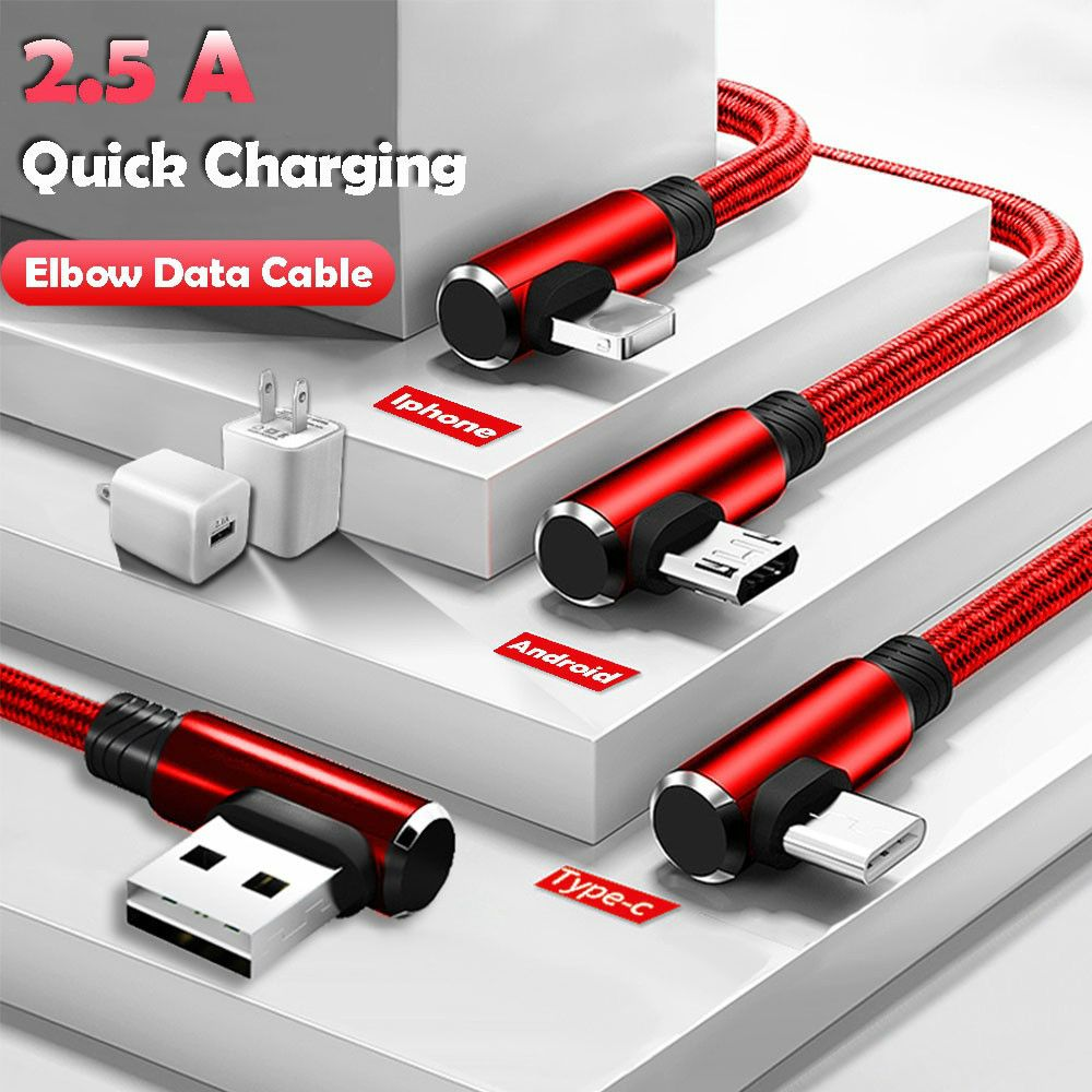 Micro USB Data Sync Cable fast Charging Cable 90 Degree