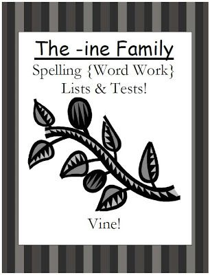 Fern's Freebie Friday ~ Year Round Blank Spelling Test