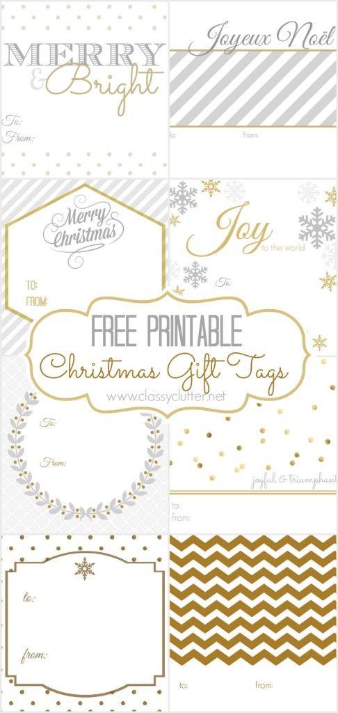 FREE Christmas Gift Tags - 8 printable designs | DIY Ideas ...