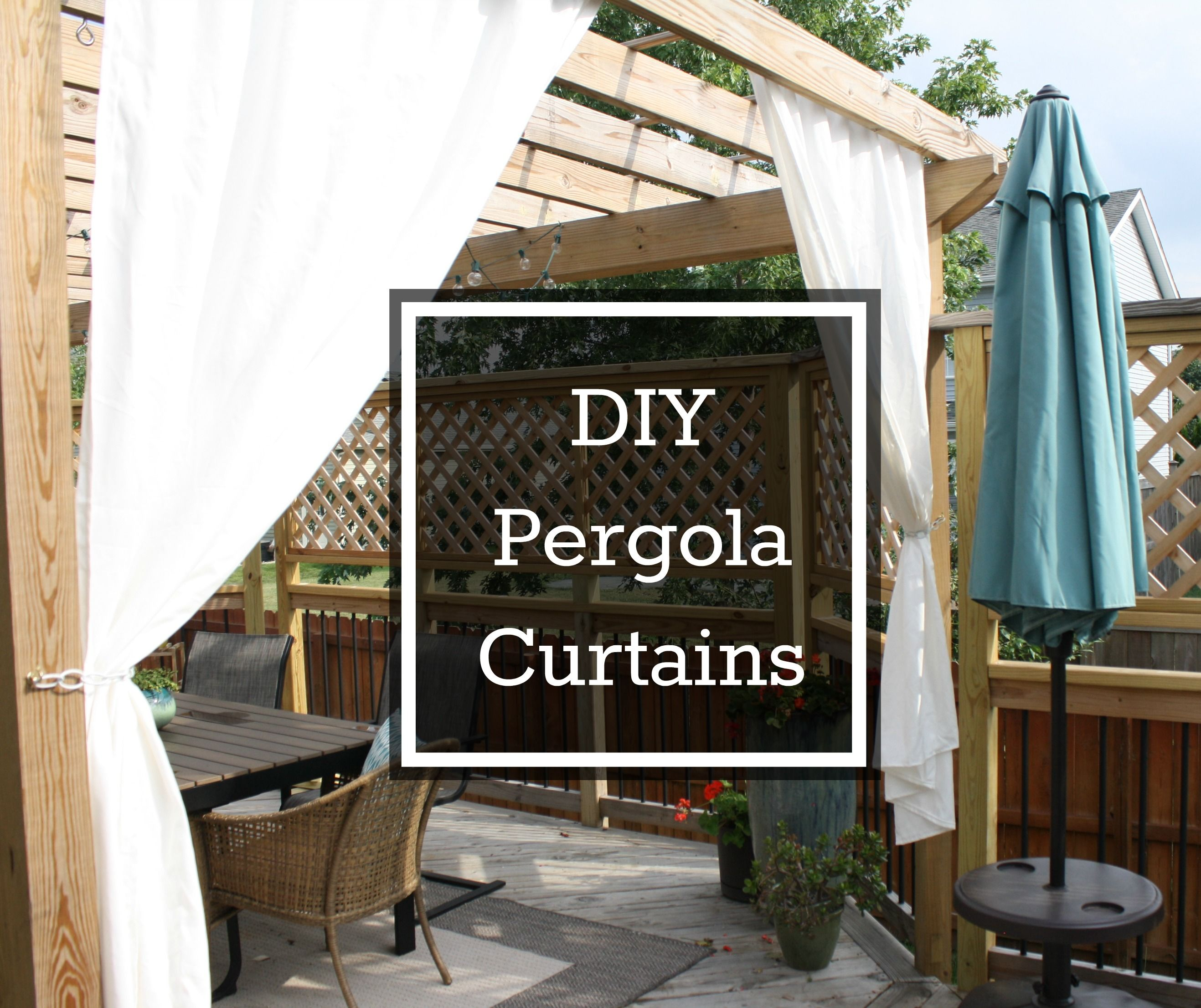 diy pergola curtains diy decor pinterest pergola curtains
