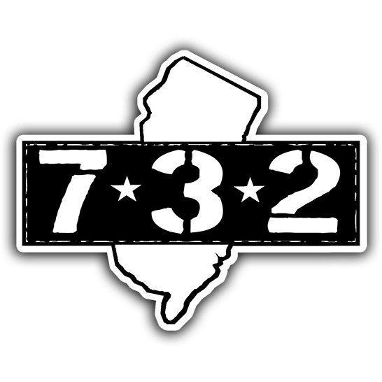 Area Code 732 Bumper Sticker