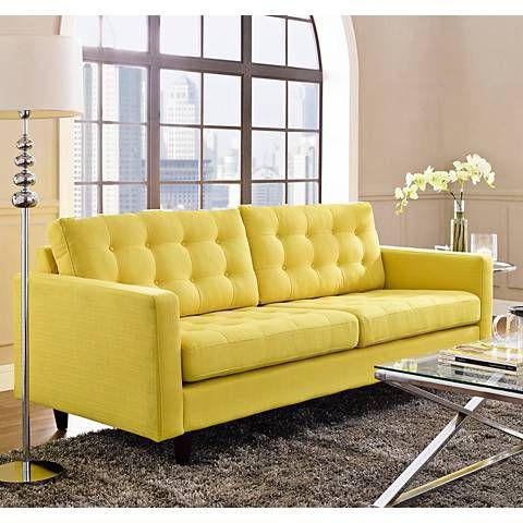 Empress Sunny 84 1 2 Wide Fabric Tufted Sofa 13j65 Lamps