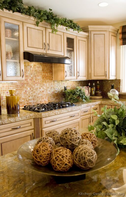 Pictures of Kitchens - Traditional - Whitewashed Cabinets ... on Kitchen Backsplash Ideas With Maple Cabinets  id=51068