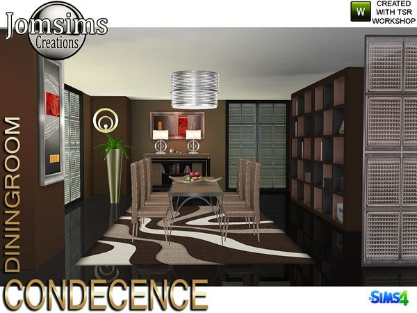 Condecence diningroom by jomsims at TSR • Sims 4 Updates