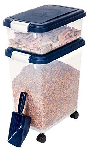 myriad pet solutions 3 piece pet food storage bin with scoop blue visit